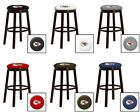 """CHIEFS NFL 24"""" & 28"""" ESPRESSO WOOD METAL BAR GAME MAN CAVE SHE SHED BAR STOOLS"""