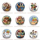 9PCS/SET Toy Story Buttons Round Pins Brooch Badges 30mm as Kids Party Best Gift