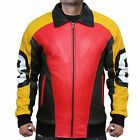 Puddy's Patrick Warburton 8 Ball Real Leather Jacket - Fast Shipping $99.99 USD