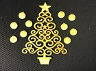 XMAS TREE WITH 10 BAUBLES - MDF WOODEN TREE