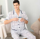 Cozy 100% Cotton 2PCs Male's Short Sleeves Sleepwear/ Pajama Sets L/XL/2XL/3XL