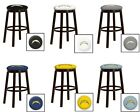 "CHARGERS YELLOW NFL 24"" & 28"" ESPRESSO WOOD METAL MAN CAVE SHE SHED BAR STOOL"