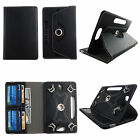 Universal Case for Insignia Flex 10.1 in Tab Leather Folio Stand ID Slots Cover