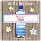 PAMPER SPA PARTY BIRTHDAY PERSONALISED WATER BOTTLE LABELS x 5