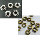 300 Silver/Gold Tone Daisy Jewelry Spacers 8x2.5mm 830
