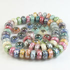 Shell Murano Glass Lampwork Silver Big Hole Bead Fit European Charm Bracelet