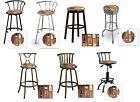 BAR GAME ROOM SWIVEL SEAT BAR STOOLS WITH VINO LIQUOR ALCOHOL THEME SEAT CUSHION