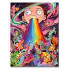Rick and Morty Funny Cartoon Trippy Art Silk Poster 16x24 inch Gift Home Decor