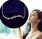 Korean POP TV Legend Of The Blue Sea Jun Ji-hyun Wavy Rose Gold CZ Gem Necklace