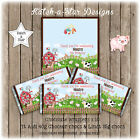 FARM YARD ANIMALS BIRTHDAY PARTY PERSONALISED CHOCOLATE WRAPPERS X 10