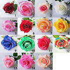 10pcs Artificial Silk Latex Rose Flowers Wedding Bridal Decor Real Touch Flower