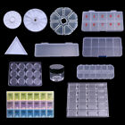 Clear Nail Tips Decorations Container with Cap Nail Art Tool Box Storage Case