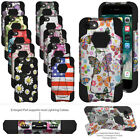 iPhone 5 SE 6 6S 7 Plus Shockproof Design Hybrid Soft Skin Hard Shell Case Stand