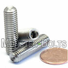 M8 Stainless Steel Set Screws with Cup Point, Socket (Allen key) Drive, DIN 916