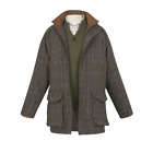 New Wool Mens Saxa Vord Harris Tweed Shooting Jacket Coat - Size 36s To 48l
