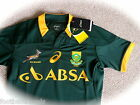 M L XL XXL ASICS SOUTH AFRICA TEST 'BODYFIT' SPRINGBOKS RUGBY SHIRT JERSEY New