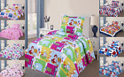 2PC TWIN KIDS PRINTED QUILT SET BEDSPREAD BEDDING DRESSING WITH PILLOW CASE