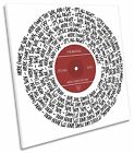 The Beatles Here Comes the Sun Song Lyrics Vinyl CANVAS WALL ART Square Print