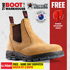 Redback Work Boots USBBA Steel Cap Safety. Elastic Sided Bobcat Banana Nubuck