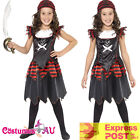 Pirate Skull Crossbones Caribbean Kids Girl Costume Gothic Fancy Dress Book Week
