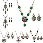 Wholesale Retro Wedding Jewelry Sets Rhinestone Resin India Necklace Earrings