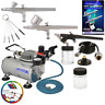 Master Airbrush Professional 3 Airbrush Kit with Compressor and Air Filter/Regul