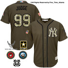 NEW Aaron Judge New York Yankees Men's Salute to Service Military Camo Jersey