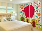 3D Red Elephant Blockout Photo Curtain Printing Curtains Drapes Fabric Window CA