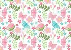 A4 Edible printed sheet Wafer Card Icing cake  ZZ11 Pink flower butterfly blue