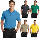 New Men's Grid Polo Dry Zone Sweat Wicking Golf 3 Button Shirt 4.28 ounce XS-4XL