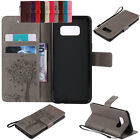 Luxury Leather Shockproof Card Slots Bracket Case For Samsung S5 S6 S7 Edge Plus
