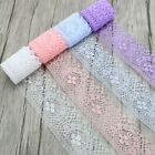 10 Yards Embroidered Net Lace Trim Edge Ribbon Scalloped Sewing Craft Wedding
