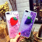Cute Fruit Bling Dynamic Liquid Giltter Soft Case Cover for iPhone 6 6S 7 Plus