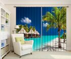 3D Huts Trees Blockout Photo Curtain Printing Curtains Drapes Fabric Window AU