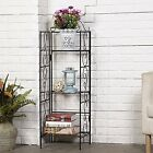Rustproof Organizer Planter Shelf Corner Stroage Shelf Bakers Rack Indoor Plant