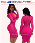 NEW Hot Women Clubwear Sexy Lace Cocktail Party Bandage Bodycon Dress #055a