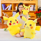 Anime Pokemon Pikachu Soft Plush Doll Cute Fluffy Stuffed Doll Multiple Sizes