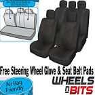 Universal PU Leather Look Feel Car Seat Cover Full Set Split Rears Airbag Safe
