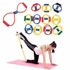 Resistance Tube Set Home Gym Fitness Exercise Workout Heavy Handles Yoga Band B