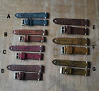 StrapsCo  Vintage Style Distressed Leather Mens Watch Band Strap 20 22mm