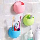 Bathroom Toothbrush Holder Wall Mount Suction Cup Toothpaste Storage US Location