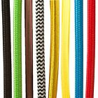 3 Core Round 2 Core Italian Color Braided Light Fabric Vintage Electric Cable