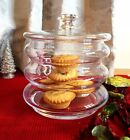 Handmade Glass Traditional Candy Jar Cookie Jar with a lid