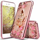 Bling Diamond Patterned Clear Slim TPU Bumper Case +Ring Stand+Lanyard For Oppo