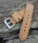 Handmade real cow leather, watch strap 20 22 24 26mm, stainlles steel buckle