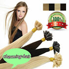 Pre-Bonded Keratin Nail U Tip Remy Human Hair Extensions Double Drawn Thick 1g/s