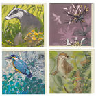 """Shelly Perkins Greeting Cards Choice of Animals Birds or Floral 6"""" Square Cards"""