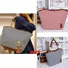 Womens Canvas plaid Handbags Girls Tote Satchel Beach Shoulder shopping Bags ST