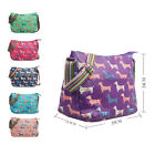 Women Canvas Handbag Crossbody Shoulder Bag Ladies Dog Print  Messenger Tote