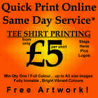 Tee Shirts Stag Hen Logo Picture Text Full Colour Quality White or Pastel tees